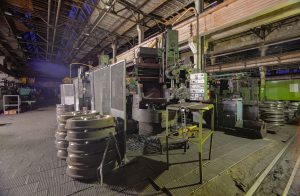 Old milling machine at a metalworking plant
